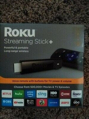 Roku 4K Ultra HD HDR Media Streaming Stick+ with Voice Remote - 3810R NEW SEALED
