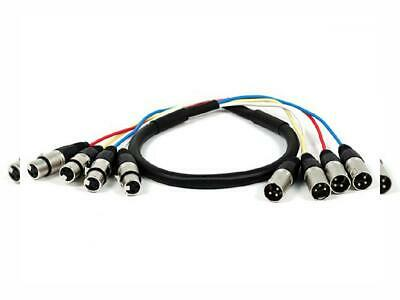 Monoprice 4-Channel XLR Male to Female Snake Cable Cord - 3 Feet- 3ft