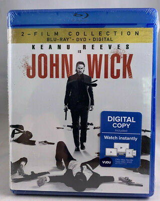 John Wick 2-Film Collection (Blu-ray/DVD, 2019, 4-Disc) NEW - Free Shipping
