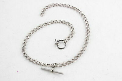 Vintage .925 STERLING SILVER Graduated Double Albert Chain w/ Split Ring (30g)