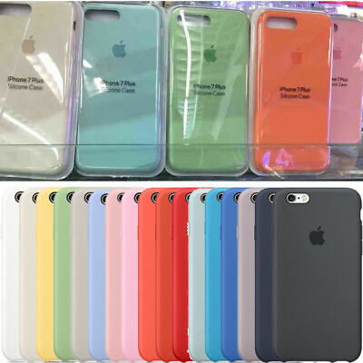 Ultra-thin Original Genuine Silicone Leather Case Cover For iPhone X 6s 7 8 Plus