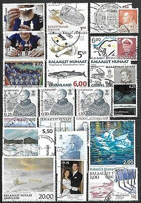 Greenland Used Selection Including Two Souvenir Sheets $240.15 SCV