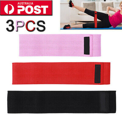 3X Resistance Workout Stretch Band Fitness Gym Excercise Strength Building Yoga