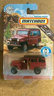 2019 matchbox '62 Jeep Willys Wagon! Moving Parts!