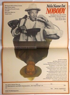 Sergio Leone Terence Hill Fonda - My Name Is Nobody * Rare East German  Poster!