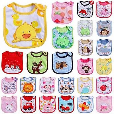 Newborn Toddler Infant Baby Boy Girl Cartoon Bibs Waterproof Saliva Towel Good