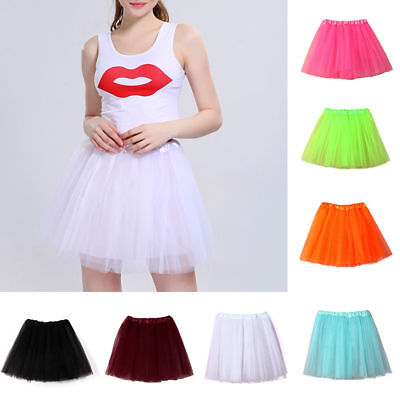 Ladies Adults Ballet Tutu Mini Skirt Princess Tulle Pettiskirt Skirt 40cm Proper