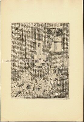 JEAN CASSOU - LE PAUVRE * VERY RARE DRY POINT ETCHING FROM 1955 by lancelot ney