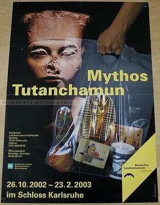 GERMAN EXHIBITION POSTER 2002 - MYTH TUTANKHAMUN art print masks