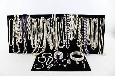 40 x Vintage & Retro FAUX PEARL JEWELLERY inc. Necklaces, Bracelets, Earrings