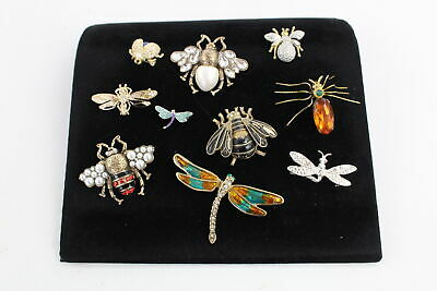 10 x Vintage INSECT & BUG JEWELLERY inc. Spider, Dragonfly, Beetle