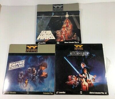 Star Wars Trilogy Laserdisc Collection Very Rare Widescreen Great Condition