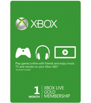Microsoft Xbox Live Subscription 1 Month Gold [Digital Code]