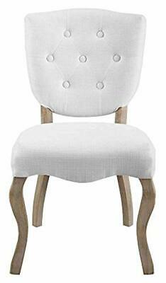 Modway Array Vintage French Weathered Wood Dining Side Chair in White