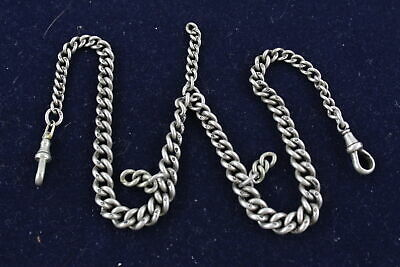 Vintage .925 Sterling Silver GRADUATED ALBERT w/ Double Dog Clips (50g)