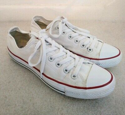Converse Unisex All Star Low Top Classic White Size UK 7 Men's Women's Ladies