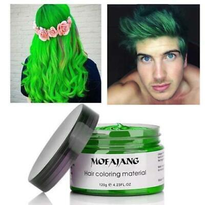 GREEN Hair Color Wax Mud Dye Styling Cream DIY Coloring Temporary Colour