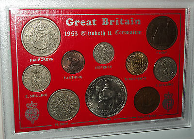 1953 The Coronation of Queen Elizabeth II Crown Coin Gift Set (66th Birthday)