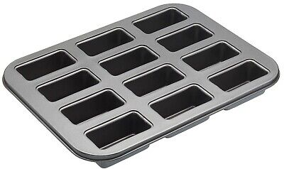 Masterclass Heavy Duty Mini Loaf Tin With Loose Base - 12 Hole - Nonstick #GIK