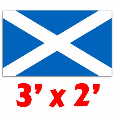 Scotland Flag 3ft x 2ft - Medium Size - Saltire St Andrews Cross Scottish - UK