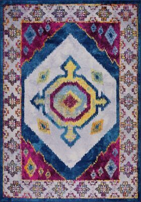 Huma Traditional Style Purple Blue Durable Indoor Mat Area Rug Carpet BAN1337