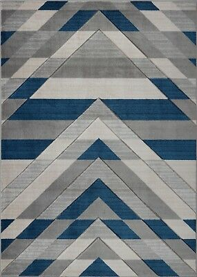 Area Rugs Abstract Grey Blue Carpet Rugs 4x6 5x8 Hallway Runners VCZ1176 VCZ1177