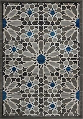 Area Rugs Abstract Grey Blue Contemporary  Carpet Rugs 4x6 5x8 Hallway Runners