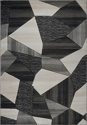 Area Rugs Abstract Grey Gold Carpet Rugs 4x6 5x8 Hallway Runners VCZ1184 VCZ1185