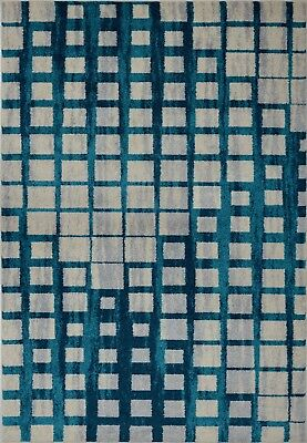 Area Rugs Abstract  Blue Carpet Rugs 4x6  5x8 Hallway Runners