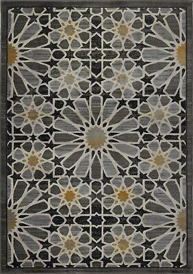 Area Rugs Abstract Grey Gold Contemporary Carpet Rugs 4x6 5x8 Hallway Runners