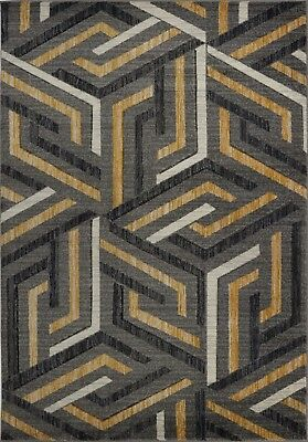 Area Rugs Abstract Grey Gold Carpet Rugs 4x6 5x8 Hallway Runners VCZ1181 VCZ1180