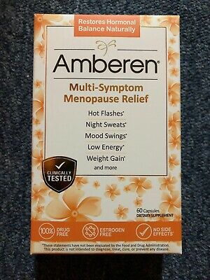 Amberen Menopause Relief Promotes Hormonal Balance, 60 capsules exp 5/22