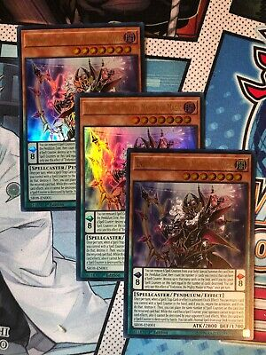 3x Endymion, the Mighty Master of Magic - SR08-EN001 - Ultra Rare - 1st Edition