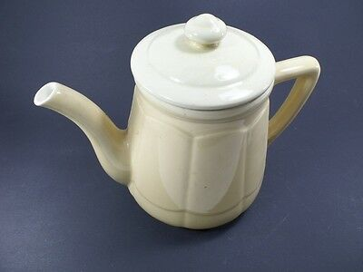 Antique Cafetiere Cream Stoneware Enamel st - Uze / French Antique Coffee Maker
