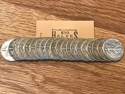EXTRA NICE ROLL of Walking Liberty US Silver Half Dollar-20 Coins (1916-1947)