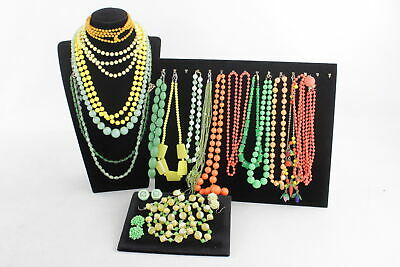 20 x Vintage & Retro 1950s Kitsch JEWELLERY inc. Statement, Glass, Beaded