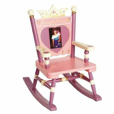 Wildkin Princess Mini Rocking Chair, Features Built-In Picture Frame and Durable