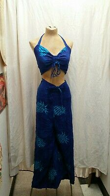 fbcc232370 Hibiscus Collection Hawaii Two piece Wrap Around Pants And Halter One Size  fits