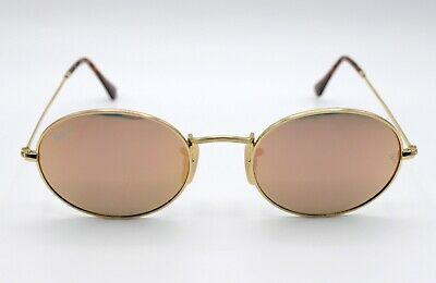 ca903c1070d New Ray-Ban Oval Copper/Pink Flash Mirrored RB3547N 001/Z2 Gold Metal