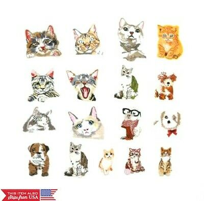 DIY Iron on Patches Embroidered Badge Applique Fabric Craft  Cat Sew
