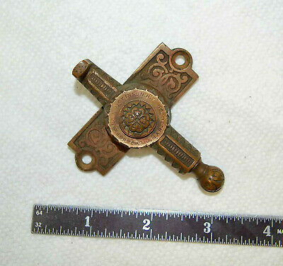 Brass Window Sash Lock Hopkins Dickinson Victorian Edwardian Latch 1869 Antique