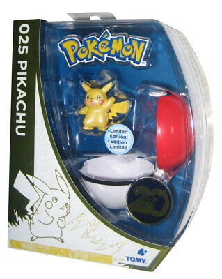Pokemon 20th Aniversario Pikachu 025 Edición Limitada Tomy Pokeball Figura Set