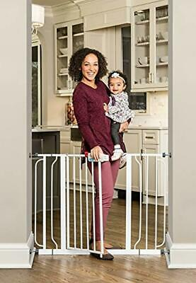 Regalo Easy Step Extra Wide Baby Gate, Includes 4-Inch and 4-Inch Extension Kits