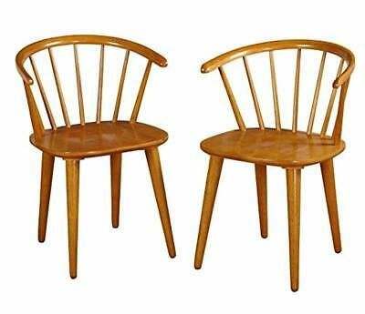 Target Marketing Systems Set of 2 Florence Dining Chairs with Low Windsor Spindl
