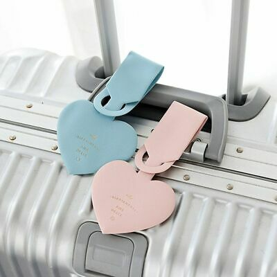 Travel Luggage Tag Love Heart Shape Suitcase ID Address Label Baggage Card