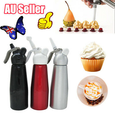 500ml CREAM WHIPPER Whip Coffee Dessert Cake FOAM Dispenser CHARGER Tool DM