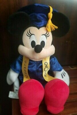 """Disney Parks 11"""" Minnie Mouse Class 2019 Graduation Plush New With Tags!"""