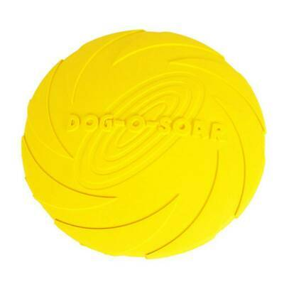 18cm Frisbee Dog Flyer toy for Large Dog Indestructible Rubber Toys Fly Discs b2