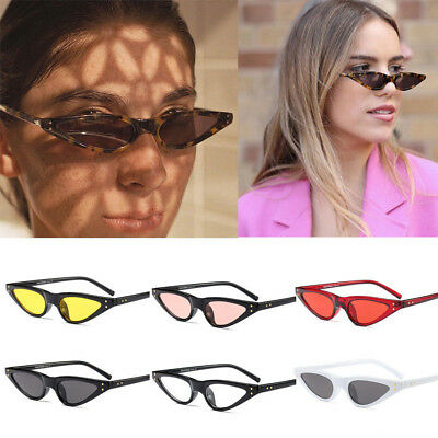 Women Vintage Cat Eye Sunglasses Ladies Retro Small Frame Uv400 Eyewear 2019