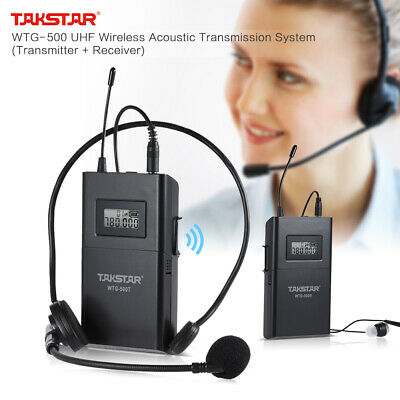 TAKSTAR WTG-500 UHF Wireless Acoustic Transmitter + Microphone Z7D6